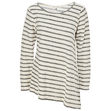 Buy Max Studio Stripe French Terry Top, Navy/Natural Online at johnlewis.com