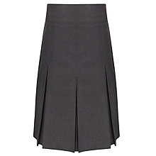 Buy John Lewis Girls' School Generous Fit Adjustable Waist Pleated School Skirt, Grey Online at johnlewis.com