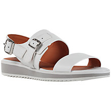 Buy Geox Dandelion Leather Sandals, White Online at johnlewis.com