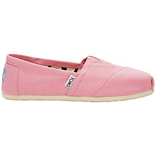 Buy TOMS Original Classic Canvas Plimsolls, Pink Online at johnlewis.com