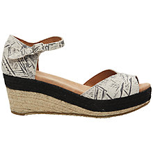Buy TOMS Platform Wedge Heeled Sandals, Grey Graffiti Online at johnlewis.com