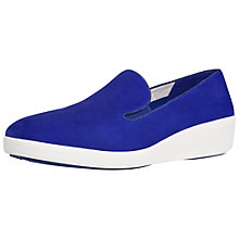 Buy FitFlop F-Pop Skate Nubuck Shoes, Blue Online at johnlewis.com