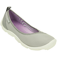 Buy Crocs Duet Women's Low Heeled Pumps, Grey Online at johnlewis.com