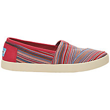 Buy TOMS Avalon Sneaker Plimsolls, Raspberry Online at johnlewis.com