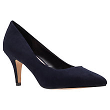 Buy Carvela Kairo Pointed Court Shoes, Navy Online at johnlewis.com