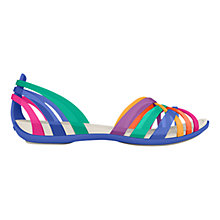 Buy Crocs Huarache Women's Flat Sandals, Blue Online at johnlewis.com