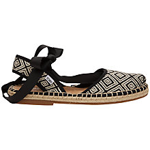 Buy TOMS Bella Espadrille Sandals, Black Online at johnlewis.com