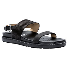 Buy Geox Tajah Leather Strap Sandals, Black Online at johnlewis.com