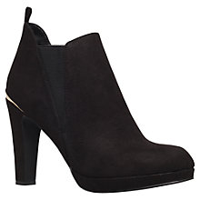 Buy Carvela Tempt Suedette Ankle Boots, Black Online at johnlewis.com