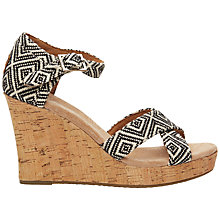 Buy TOMS Strappy Wedge Heeled Sandals Online at johnlewis.com