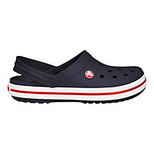 Buy Crocs Crocband Women's Slingback Sandals, Navy / White Online at johnlewis.com