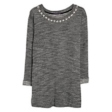 Buy Violeta by Mango Fantasy Neckline Jumper, Black Online at johnlewis.com