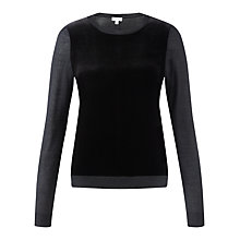 Buy Jigsaw Silk-Velvet Front Sweater Online at johnlewis.com