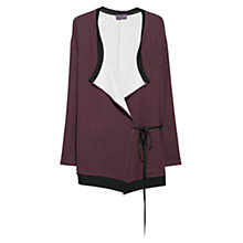 Buy Violeta by Mango Bow Plush Cardigan, Dark Red Online at johnlewis.com