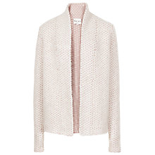 Buy Reiss Mave Stitch Cardigan, Cream / Pink Online at johnlewis.com