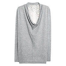 Buy Violeta by Mango Snake Panel Jumper, Grey Online at johnlewis.com
