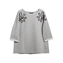 Buy Violeta by Mango Fantasy Shoulder Jumper, Grey Online at johnlewis.com