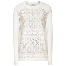 Buy Reiss Islo Laser Cut Jumper, Cream Online at johnlewis.com