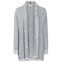 Buy Reiss Oversized Monochrome Cardigan, Ecru Online at johnlewis.com