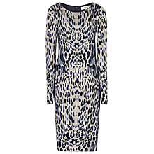Buy Reiss Sonya Long-Sleeved Bodycon Dress, Blue Online at johnlewis.com