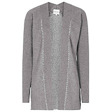 Buy Reiss Ava Textured Oversized Cardigan, Grey/Silver Online at johnlewis.com