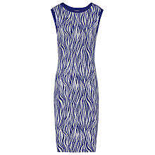 Buy Reiss Feist Jersey Dress, Blue Passion/Ivory Online at johnlewis.com