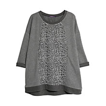 Buy Violeta by Mango Leopard Panel Sweatshirt, Dark Grey Online at johnlewis.com