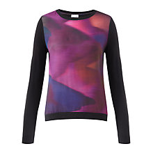 Buy Jigsaw Blurred Jewel Sweater, Purple Online at johnlewis.com