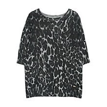 Buy Violeta by Mango Animal Print Jumper, Medium Grey Online at johnlewis.com
