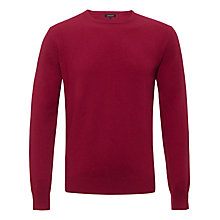 Buy Jaeger Cashmere Crew Neck Jumper, Dark Pink Online at johnlewis.com