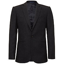 Buy Jaeger Wool Puppytooth Jacket, Navy Online at johnlewis.com