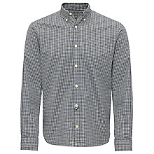 Buy Jaeger Casual Gingham Shirt, Grey Online at johnlewis.com