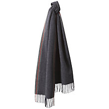 Buy Jaeger Stripe Border Cashmere Blend Scarf, Grey Online at johnlewis.com