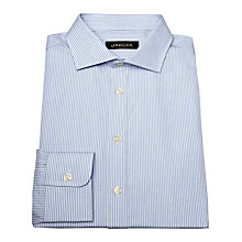 Buy Jaeger Hairline Stripe Shirt, True Blue Online at johnlewis.com