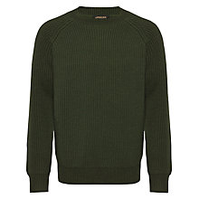 Buy Jaeger Wool Fisherman Rib Jumper, Khaki Online at johnlewis.com