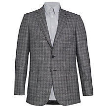 Buy Jaeger Glen Check Elbow Patch Blazer, Grey Online at johnlewis.com