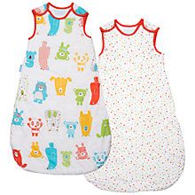 Buy Grobag Spotty Bear Baby Sleeping Bag, 2 Pack,  1 Tog, White/Multi Online at johnlewis.com