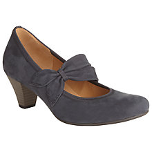 Buy Gabor Coltrane Leather Mary Jane Shoes, Navy Online at johnlewis.com