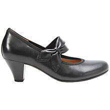 Buy Gabor Coltrane Leather Court Shoes, Black Online at johnlewis.com