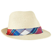 Buy Gant Madra Paper Woven Straw Effect Hat, Natural Online at johnlewis.com