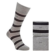 Buy Calvin Klein Multi Stripe Socks, Pack of 2, Grey Online at johnlewis.com