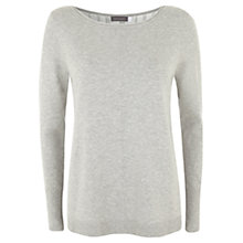 Buy Mint Velvet Pleat Back Knit Top, Grey Online at johnlewis.com