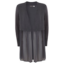 Buy Mint Velvet Georgette Front Cardigan, Steel Grey Online at johnlewis.com