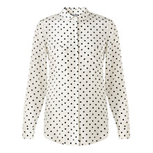Buy Jigsaw Polka Dot Silk Blouse, Ivory Online at johnlewis.com