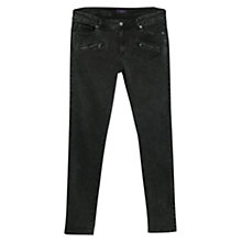Buy Violeta by Mango Super Slim Roxy Jeans, Black Online at johnlewis.com