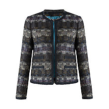 Buy Jigsaw Jewel Tweed Jacket, Multi Online at johnlewis.com