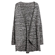 Buy Violeta by Mango Chunky Knit Cardigan, Black Online at johnlewis.com