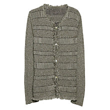 Buy Violeta by Mango Fancy Knit Cardigan, Beige Khaki Online at johnlewis.com