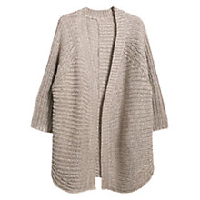 Buy Violeta by Mango Metal Thread Cardigan, Light Beige Online at johnlewis.com