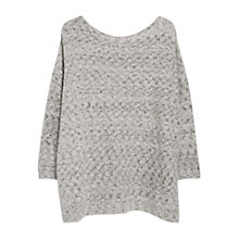 Buy Violeta by Mango Metallic Thread Jumper, Light Pastel Grey Online at johnlewis.com